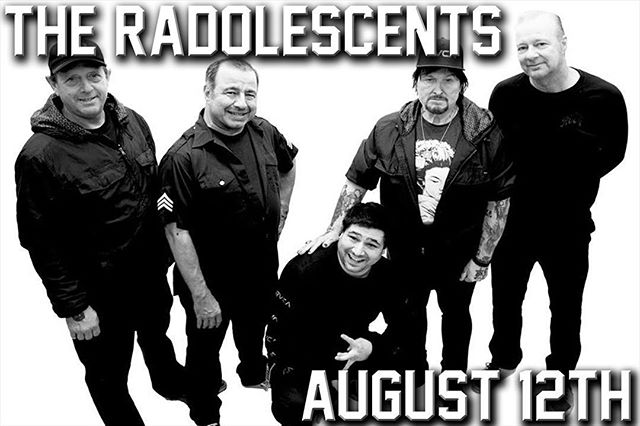 SHOW ANNOUNCEMENT!!! @blackheartbook and @a13punkrock present The RADOLESCENTS playing the blue album in sequence in its entirety August 12th!!! All ex-Adolescents members!!! Get into it!