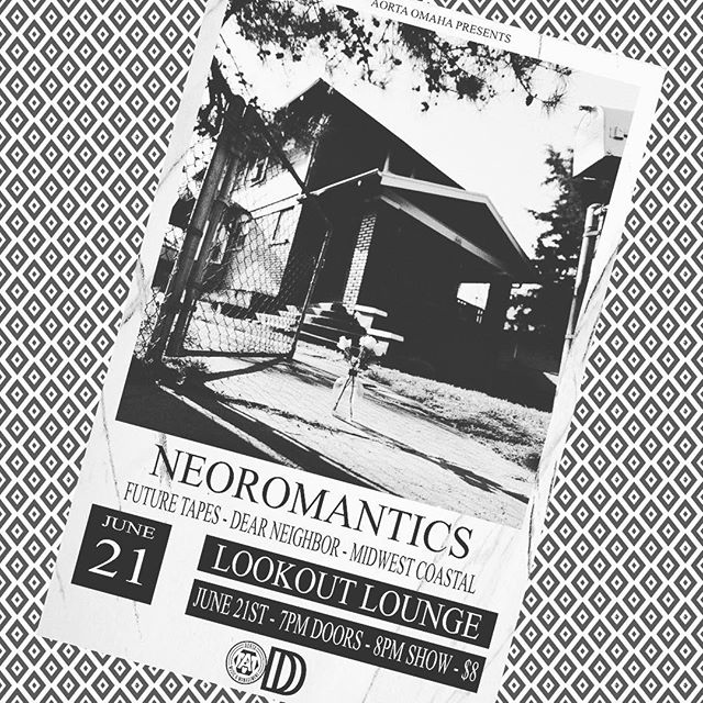 THURSDAY NIGHT!!! Our friends @neoromanticsmusic return to Lookout with @futuretapesband @dearneighborband and @midwestcoastalband This will be a fun one so don't miss it!