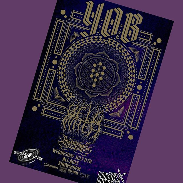 TONIGHT!!!! The one and only YOB with BELL WITCH and one last show for local metal gods PROCESSIONS!!!