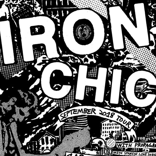 TONIGHT! @ironchic rolls into Lookout with @spanishlovesongs @homonstersband and @guilt_vacation doors at 7, music at 7:30
