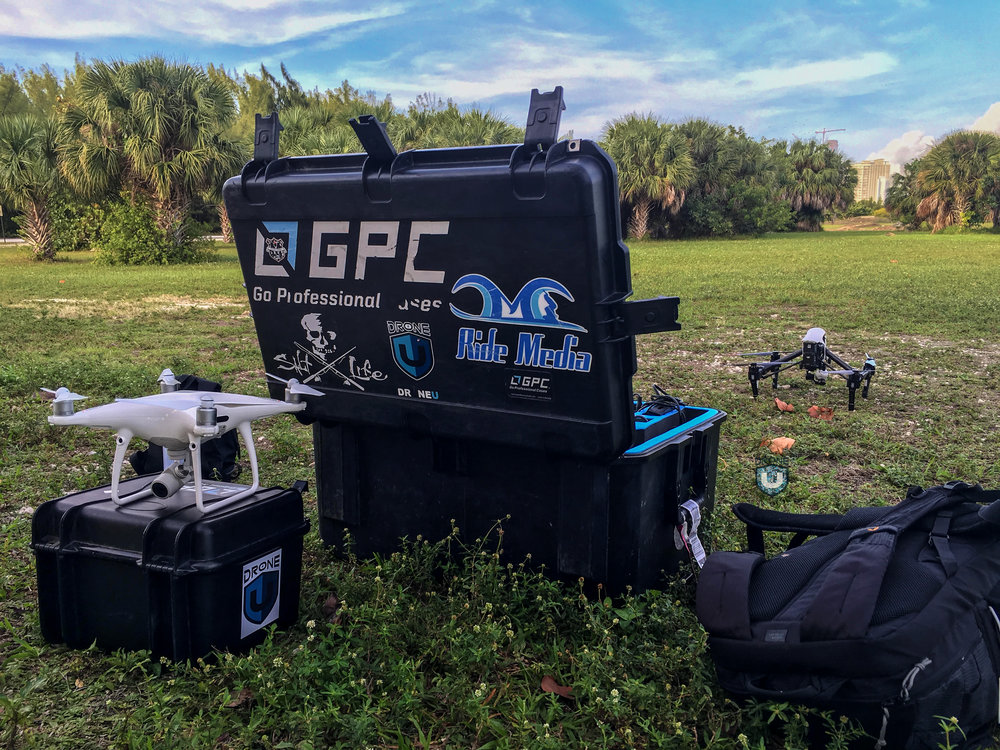 The Ultimate Drone Kit, Backpack, GPC Cases and Drone Accessories taken while traveling.