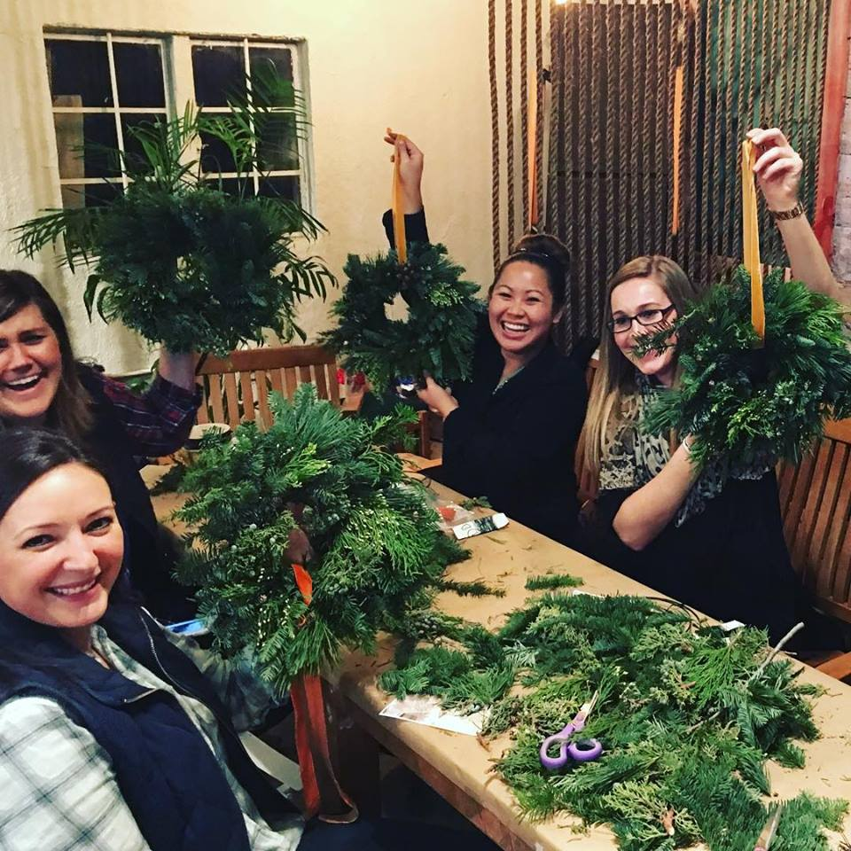 Wreath-Making with the Junior League - December 2015