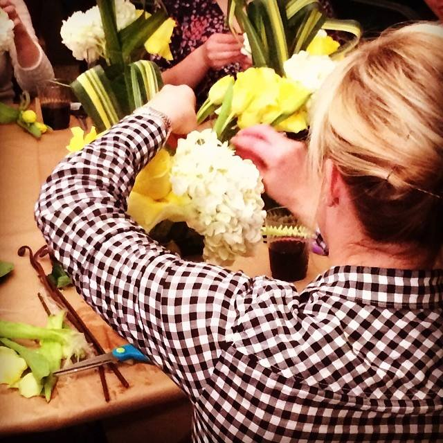 Flower Arrangement Workshop with the Junior League - April 2015