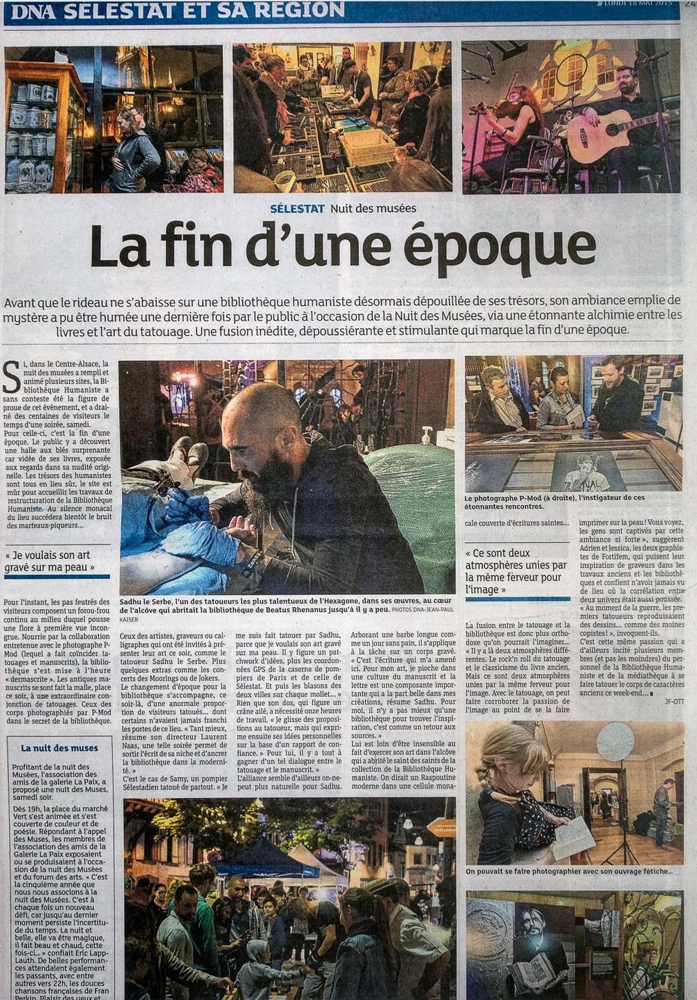 Dernières Nouvelles d'Alsace - report Nuit des Musées - 18 avr