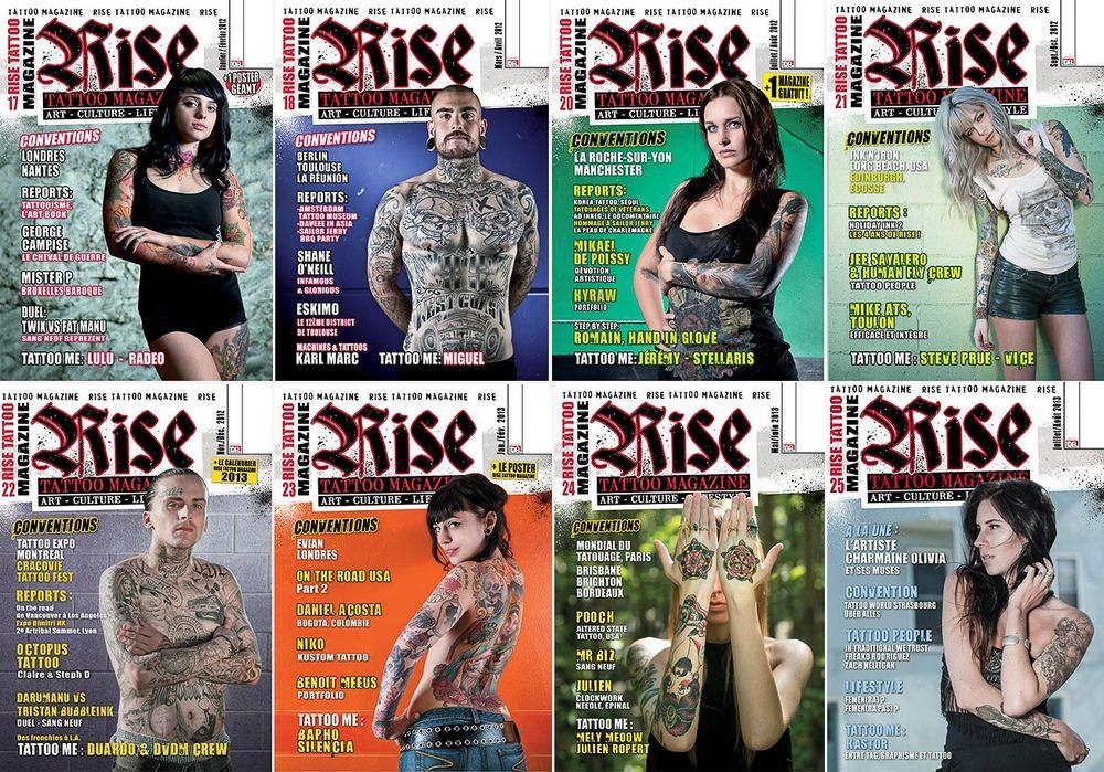 Rise tattoo Mazine - Covers 2011-2013