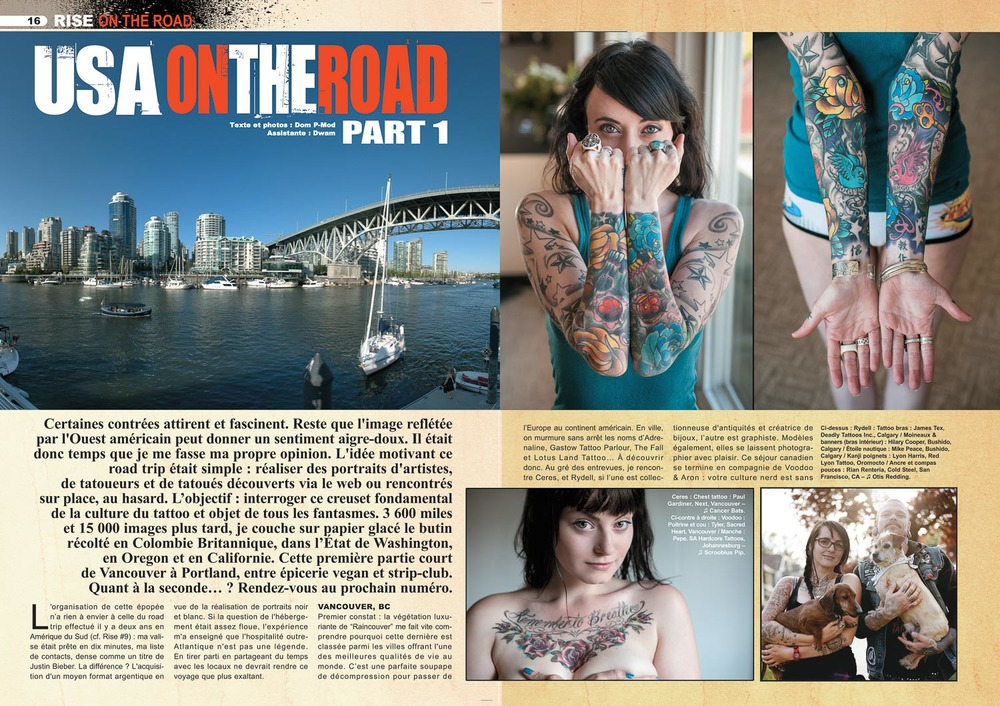 Rise tattoo magazine #22 / SAMPLE