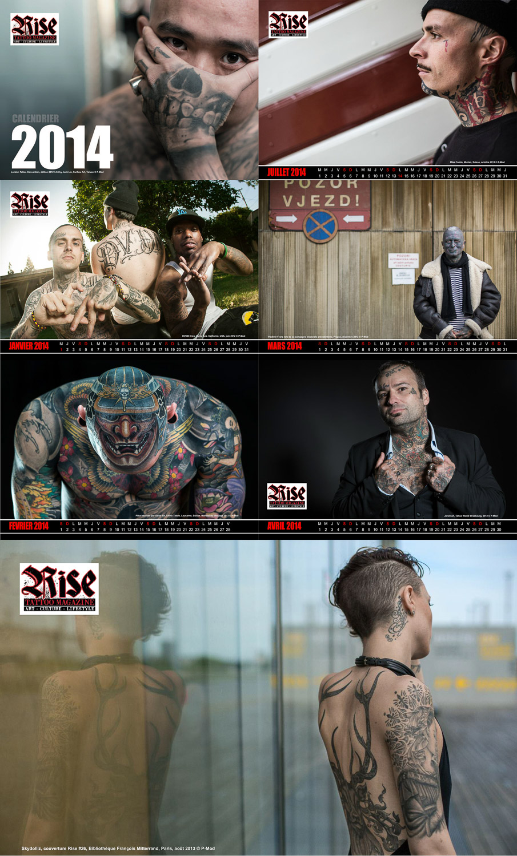 Rise Tattoo Magazine #28 / Calendrier 2014