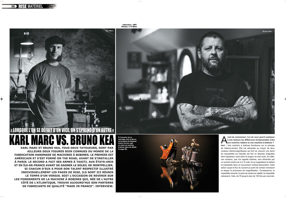 Rise Tattoo Magazine #34 - Karl Marc VS Bruno Kea