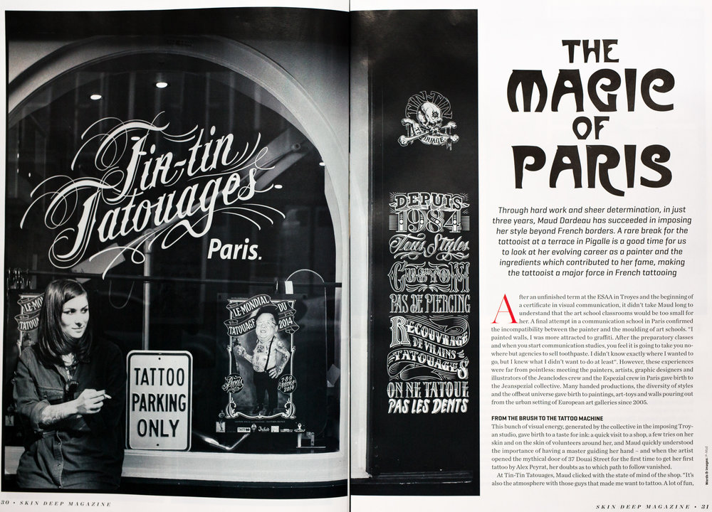 SkinDeep feb 2016 - Maud Dardeau, The magic of Paris