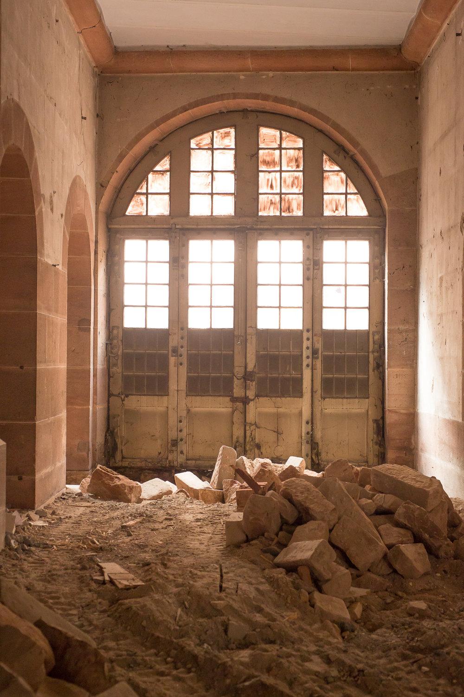 Détails Bibliothèque Humaniste - chantier 6 novembre 2015
