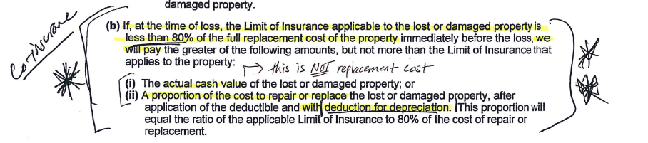 Co-Insurance Clause