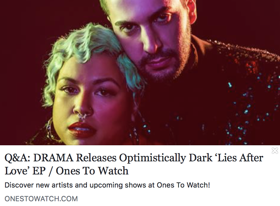 Q&A: DRAMA releases optimistically dark 'Lies After Love' EP - ONES TO WATCH