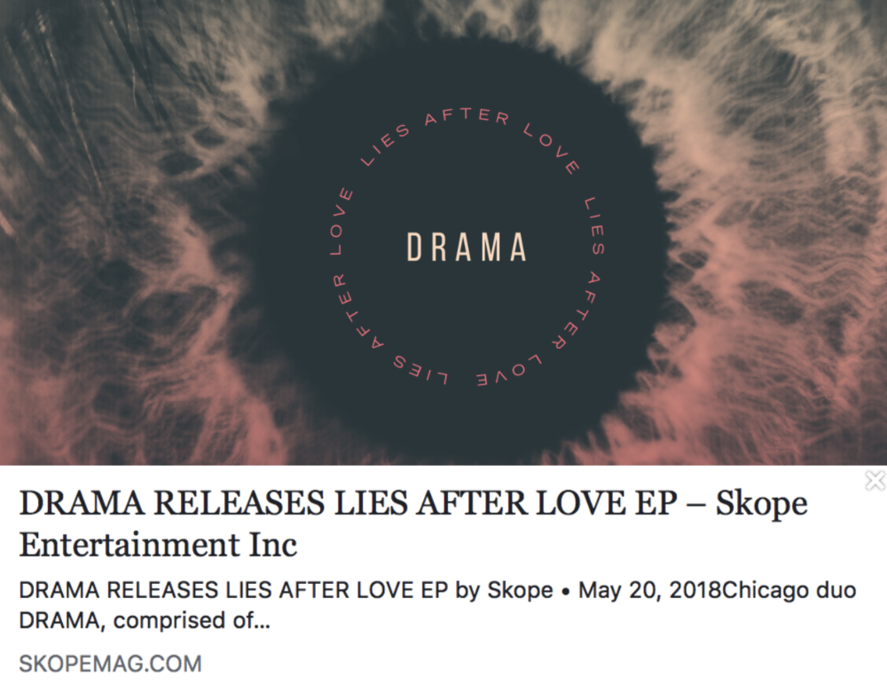 DRAMA releases 'Lies After Love' EP - SKOPEMAG