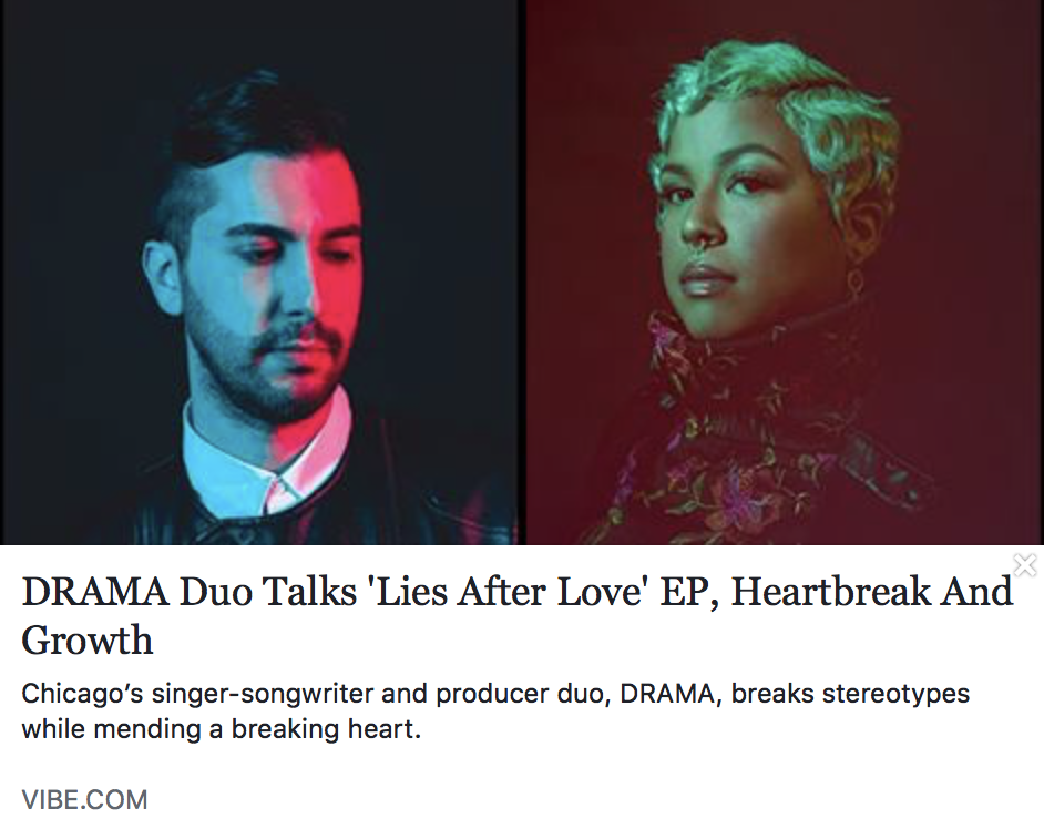 Meet DRAMA, the Chicago-based duo using heartbreak as fuel for their 'Lies After Love' EP - VIBE