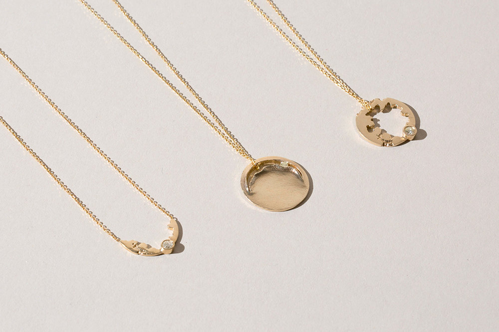 SUPER MOON STYLE - Say hello to our Moon Crater necklaces—the perfect treat yourself gift.