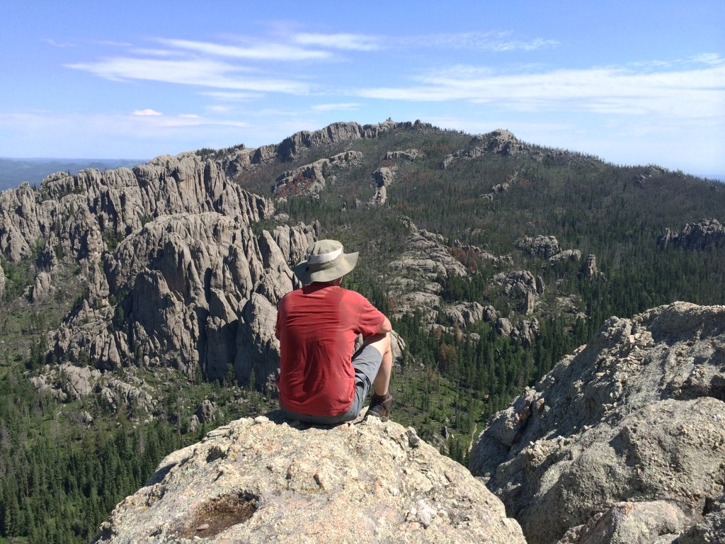 Looking across the valley at Harney Peak.