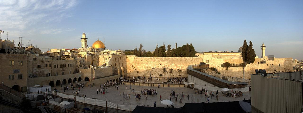 Panorama of the Wailing Wall.