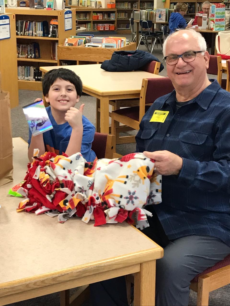 John Lowrey and his student Kid's Hope USA student, Kaden. John and Kaden just began meeting this school year.
