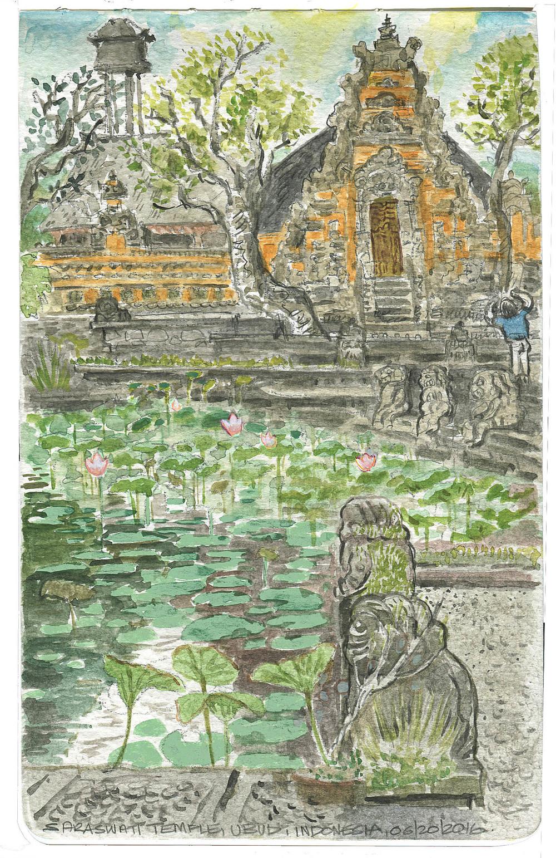 Pura Taman Saraswati.