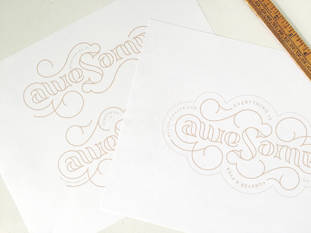 Refining ambigram print-outs