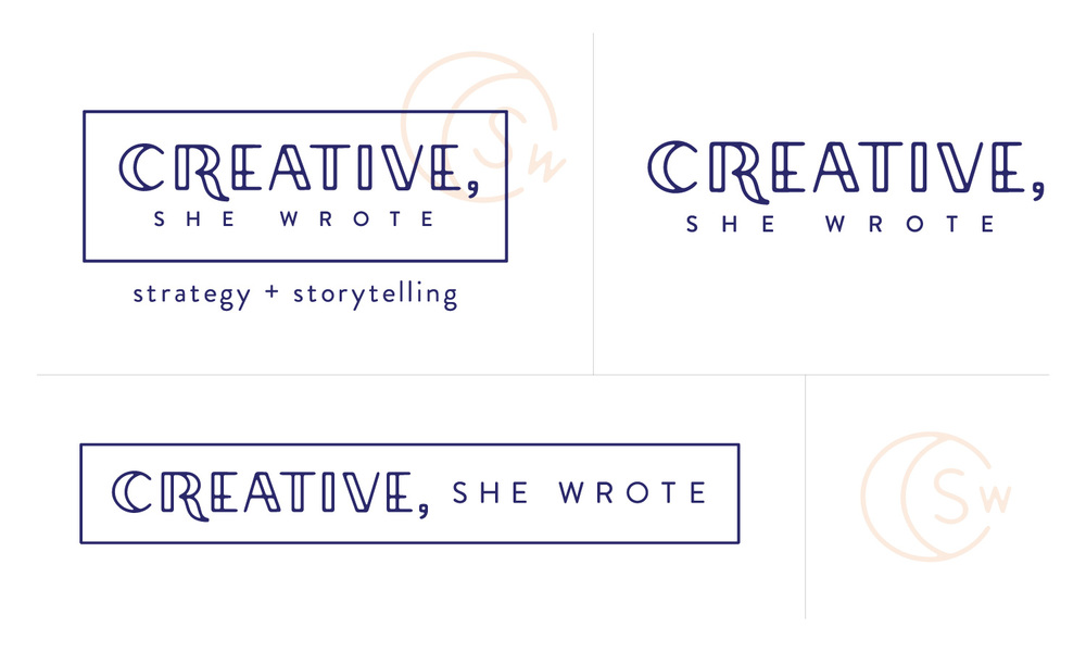 Creative, She Wrote - Logo Variations