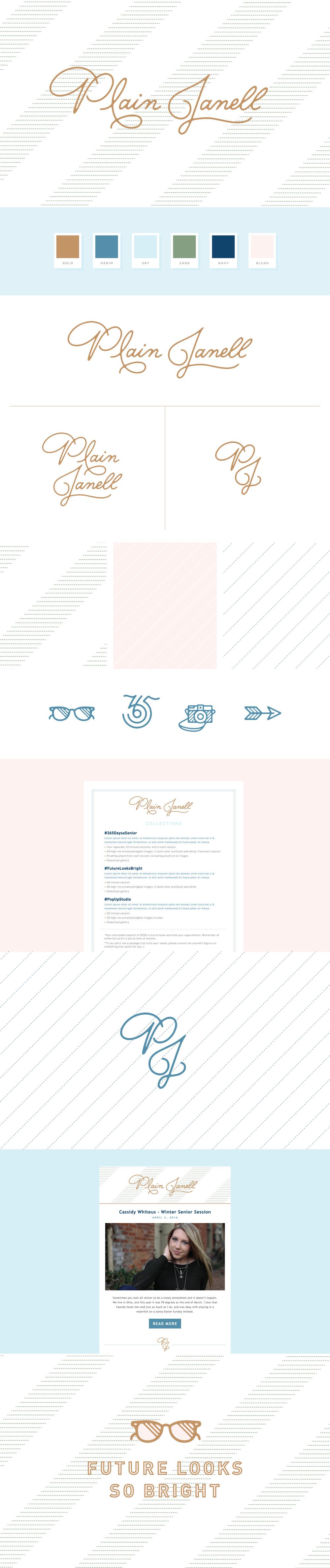 Plain Janell - Logo + Brand Identity Design