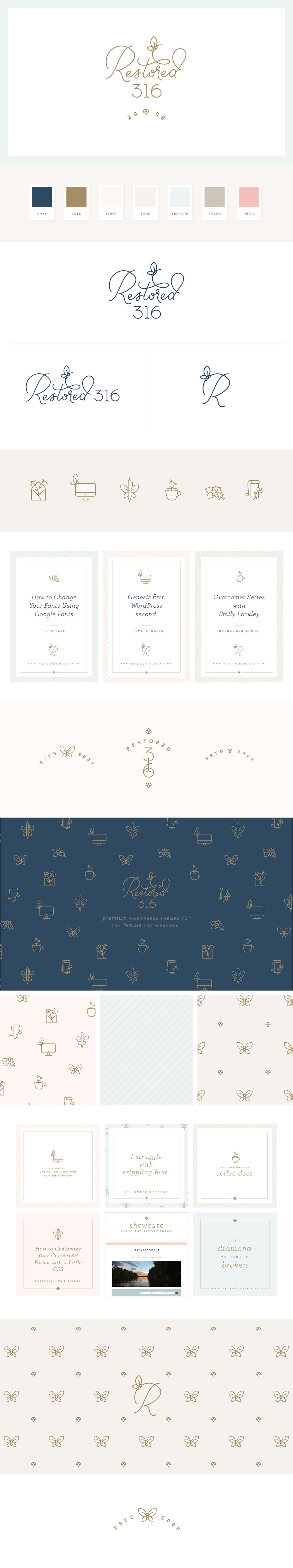 Restored 316 -logo &brand identity design by Melissa Yeager