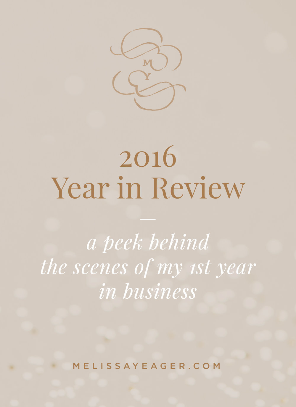 2016 Year in Review - a peek behind the scenes of my 1st year in business Melissa Yeager
