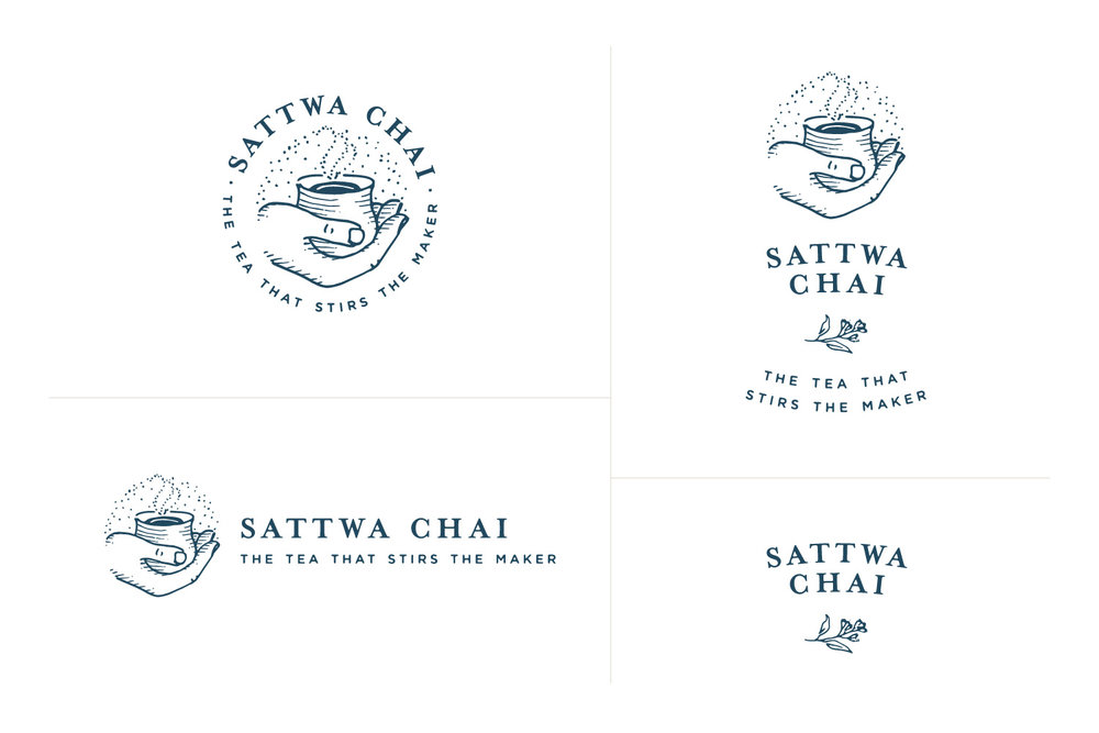 Sattwa Chai - Primary & Secondary Logos