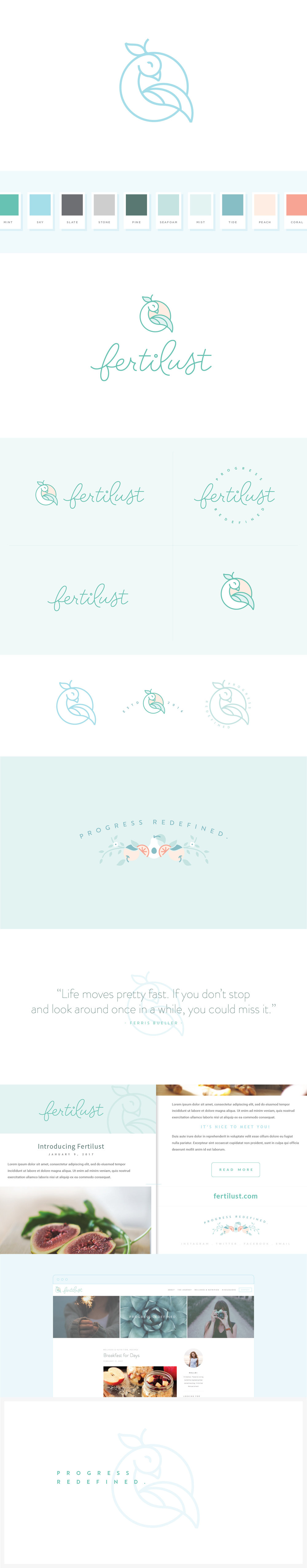 Fertilust - logo, brand identity, & website crafted by Melissa Yeager