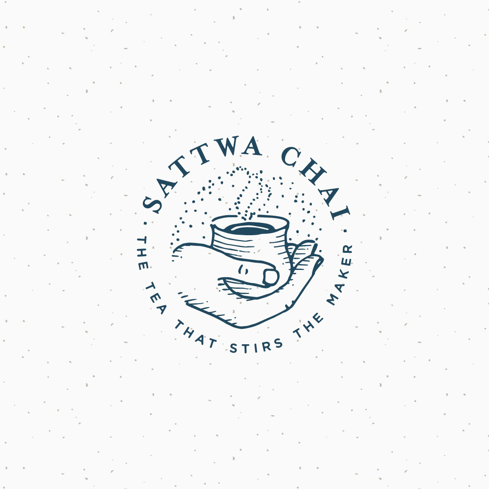 Sattwa Chai - Logo by Melissa Yeager