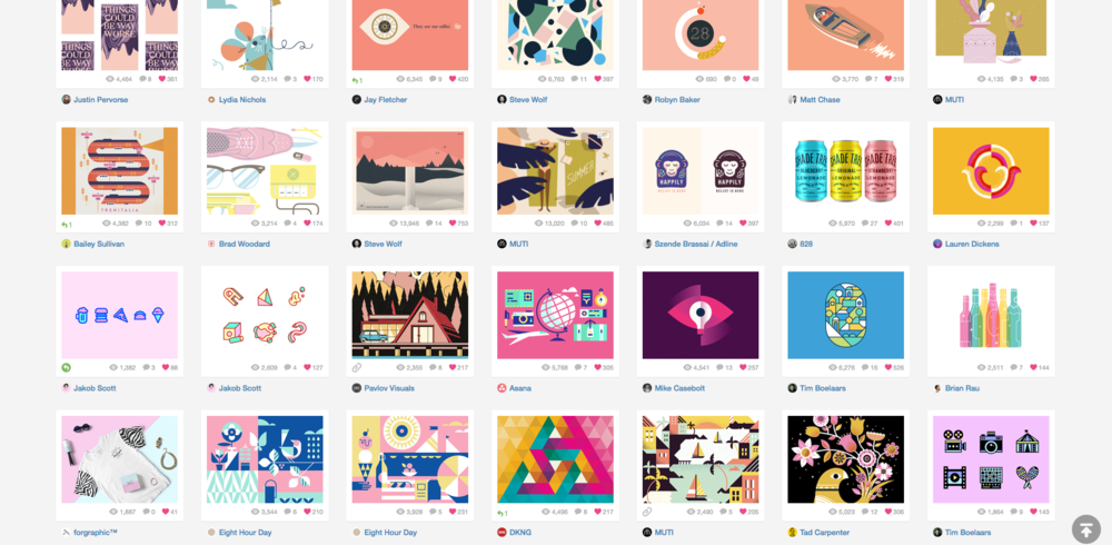 My dribbble bucket for color is all design-related, since that's what dribbble's all about. How 'bout these masters of color, am I right?? 😍