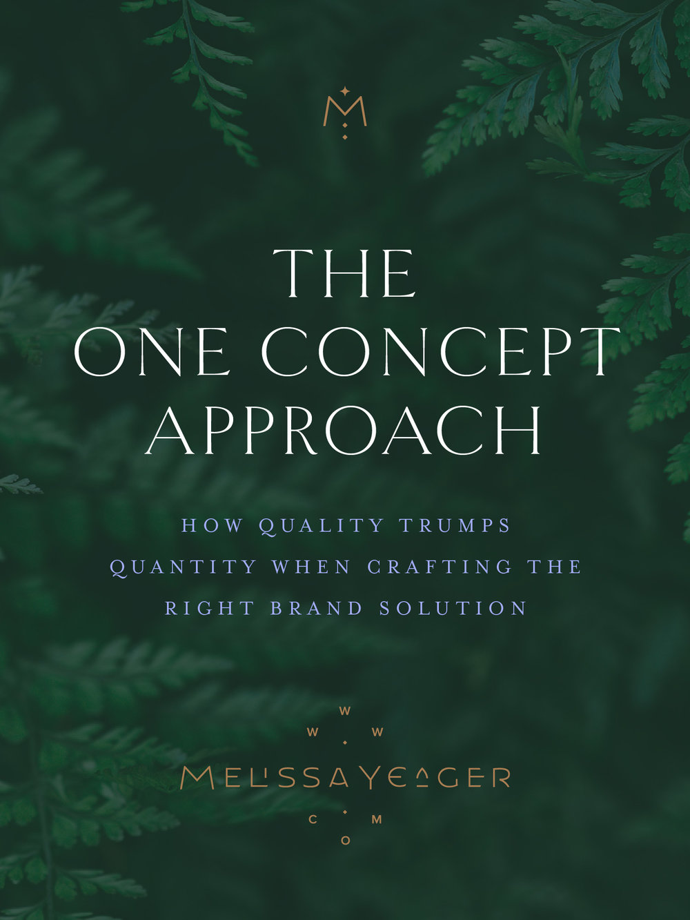 The One Concept Approach - how quality trumps quantity when creating the right brand solution