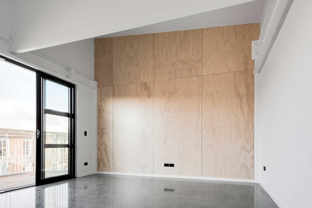 Plyplay prefinished plywood panel for interior locations for Plywood wall sheathing