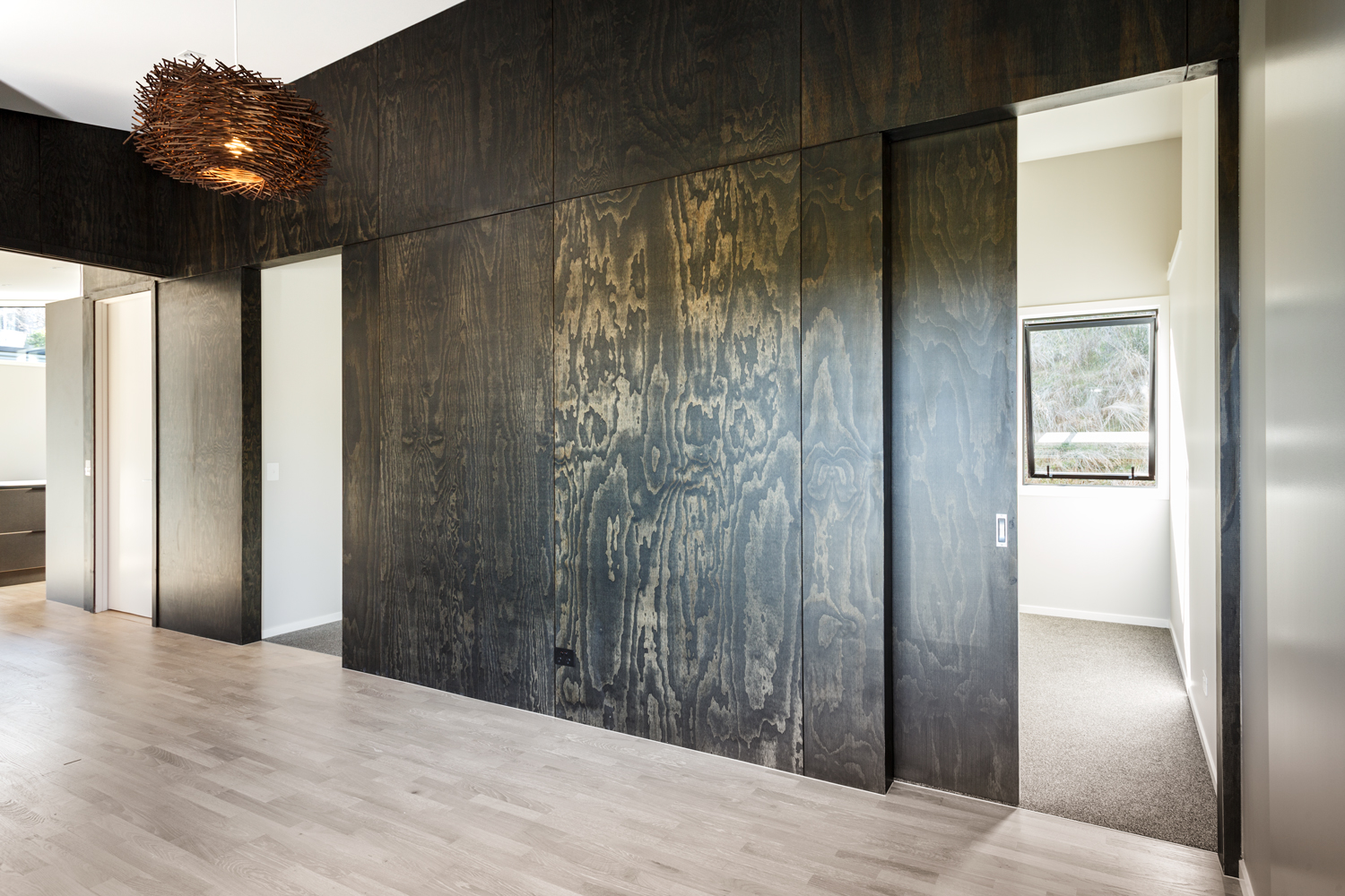 Plyplay Prefinished Interior Plywood Panelsa Striking Feature Wall In Black Satin Plywood Plyplay Prefinished Interior Plywood Panels