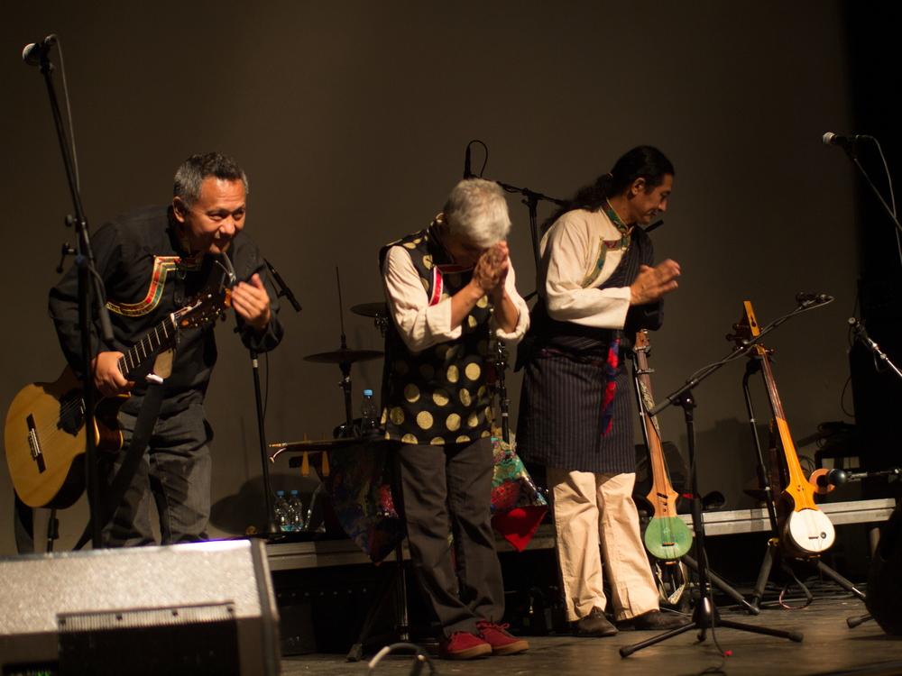 Rinzing Wangyal, Michel Tyabji, & Jhola Techung