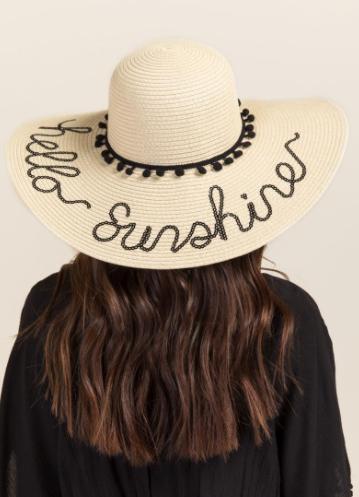 Hello Sunshine Sun Hat $20