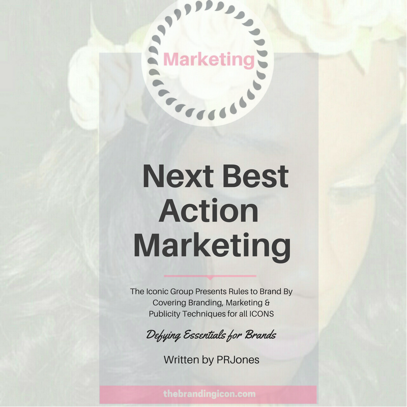 "Next Best Action Marketing (also known as ""next best"" or ""best next action"") is a strategy that considers literally ""the next best"" step In the marketing process. It's important to add this facet of marketing to every plan. Why? Because setting a plan in stone from the start only leads to missed opportunities and no one wants (or can afford) that type of marketing. Considering the next best action shows how important adding relevancy and timeliness to your campaign can be. For instance, If you launched a plan focusing on millennials ready to travel after college, and Trump (President 45)  purposely begins a new scheme to stop those Americans from traveling outside of the United States. You may want to create a step in your plan that shows cases how you feel about that ban. That shows relevance, purpose and all brands should be ready to add to their marketing plan through relevant tactics.  Next, best action can be an offer, proposition or service. It is all dependent on what your consumers need/want and how the brand (that's you) can adhere to these requirements/want.  Improving one on one engagement through analytics and optimization increases value for not only your brand but also for the individual consumer.   For more information about this technique and how The Branding Icon can assist your brand in the many forms of branding, marketing and publicity, please email info@thebrandingicon.com  or visit my website  www.thebrandingicon.com . Interested in booking a branding session check out my session info  here    Join my new  brand  support group on Facebook:  Icons Only: Brands That Ignite  and also like my page  The Branding Icon"