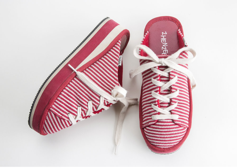 red stripe lace up - stripes are everywhere!