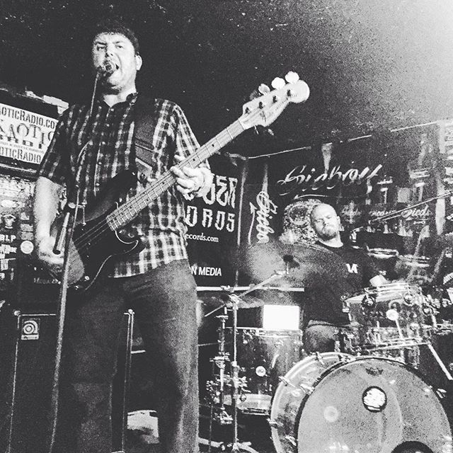 Pic from our show at @worldfamousdollhut in Anaheim. Thanks @tigersonopium for the pic #dollhut #noiserock #progrock
