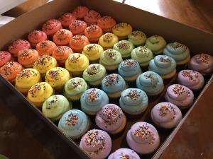 Funfetti wedding cupcakes
