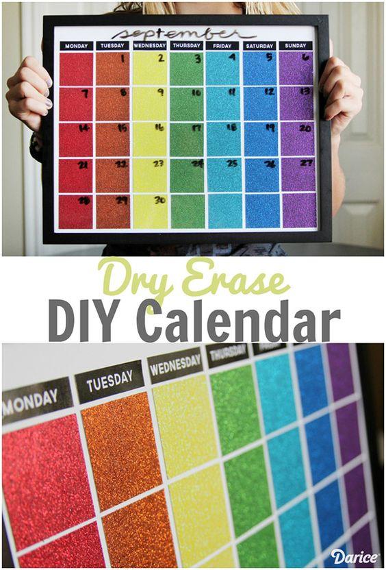 Diy Yearly Wall Calendar : Diy dry erase calendar — bold pittsburgh