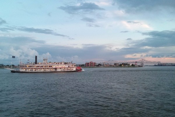 The Natchez on the Mississippi River in New Orleans