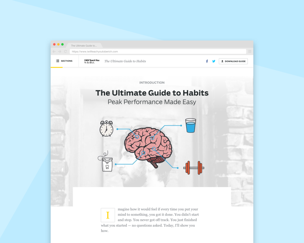 Ultimate Guides Template Redesign - UI/UX DesignWeb DesignBrand Asset Development
