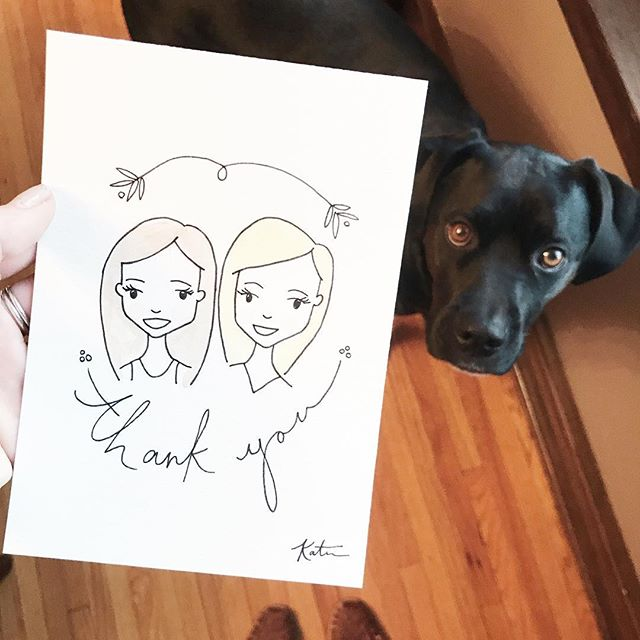 Thank a friend or thank your dog friend for photobombing your Instagram. 🤗🐶 Custom illustration for Rachel.