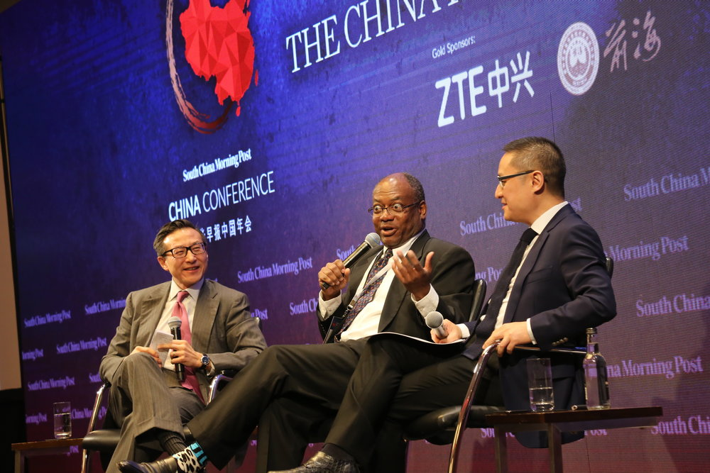 (From left) Joe Tsai, chairman, SCMP Publishers; executive vice chairman, Alibaba Group; Prof. Keith Richburg, director of Journalism and Media Studies Centre and Professor of Practice, HKU; Dr Eric Li, managing partner, Chengwei Capital; founder, Guancha.cn.