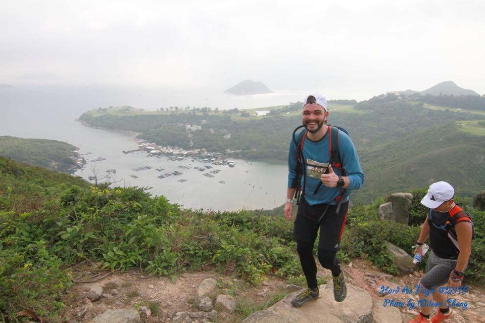 Me trying to look fresh during a trail run in Hong Kong 2015