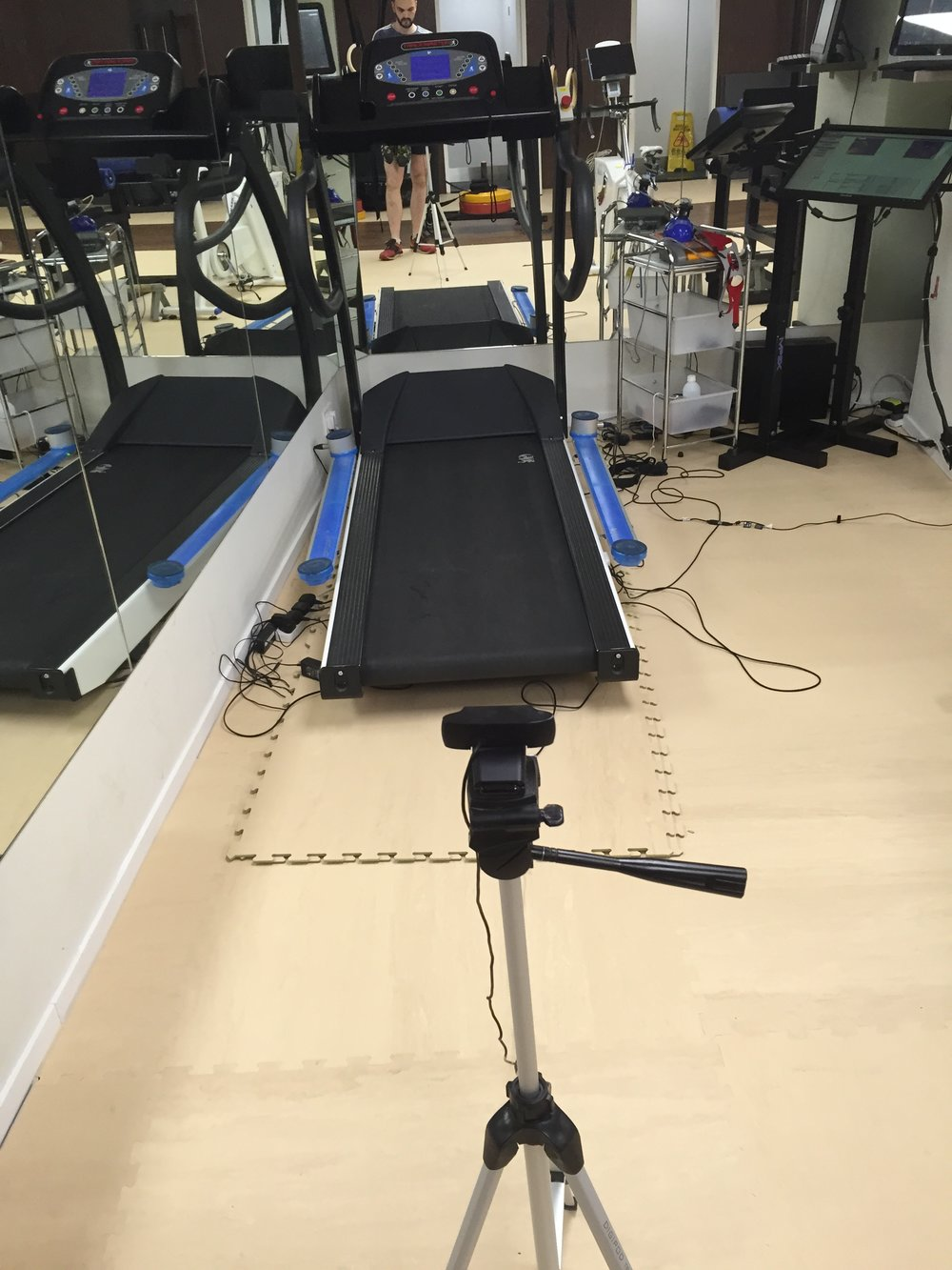 OptoGait gait analysis set-up at Joint Dynamics