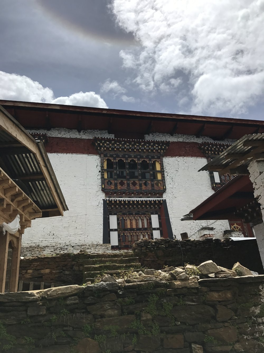 A smaller Dzong (fortress) on the way. Just impressive pieces of medival architecture.