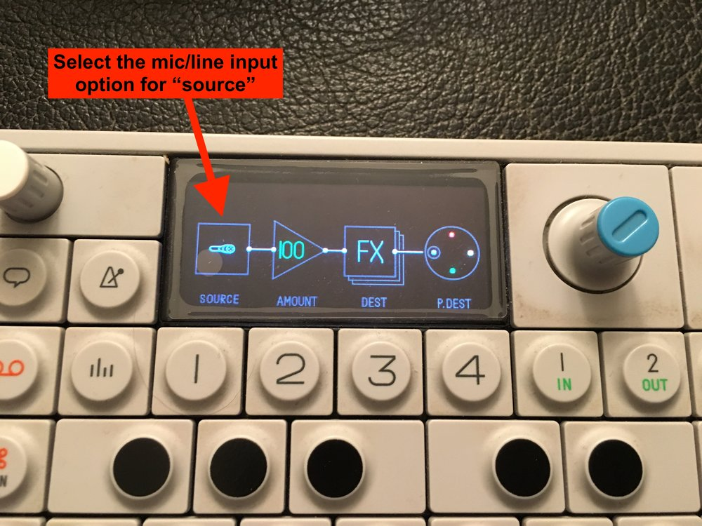 *I've had better success boosting the signal before inputting into the OP-1 to get the full range of modulation.